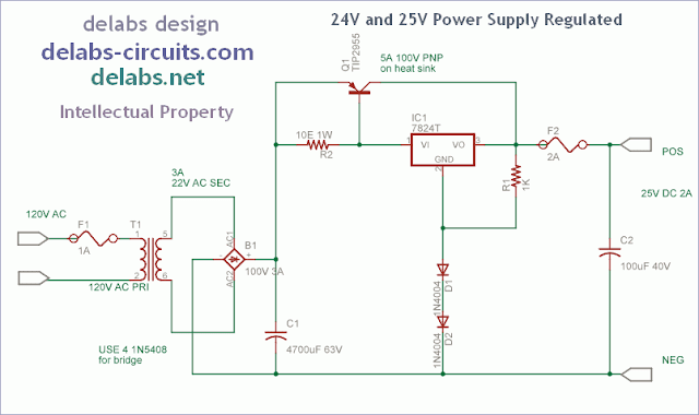 Regulated Power Supply 24V with 2A