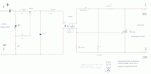 SSR Solid State Relay DC Control