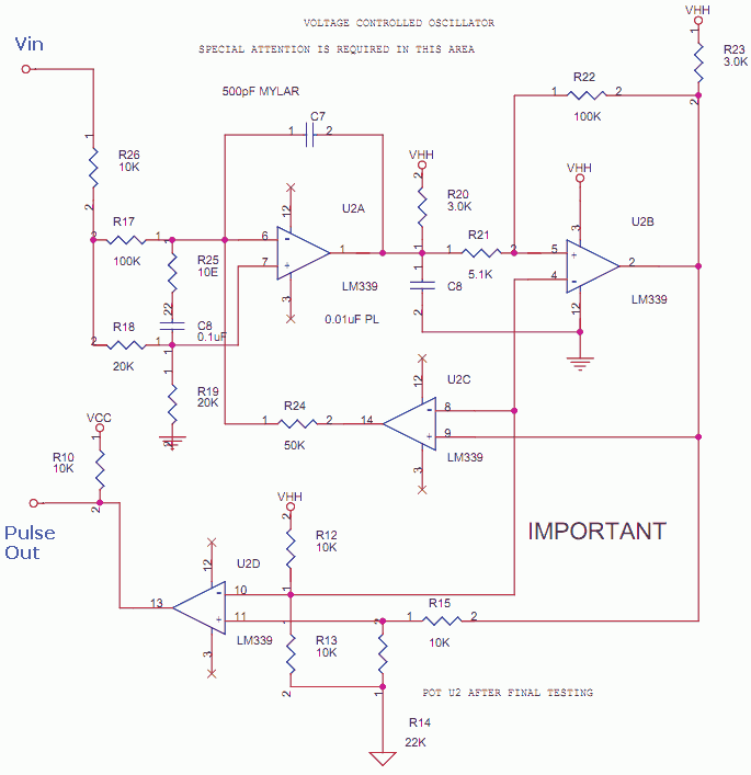 VCO - Voltage Controlled Oscillator using Opamps