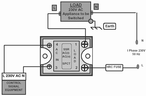 Connection Diagram of AC Control SSR