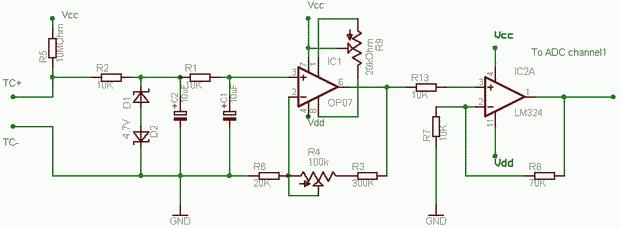 Simple Thermocouple Amplifier