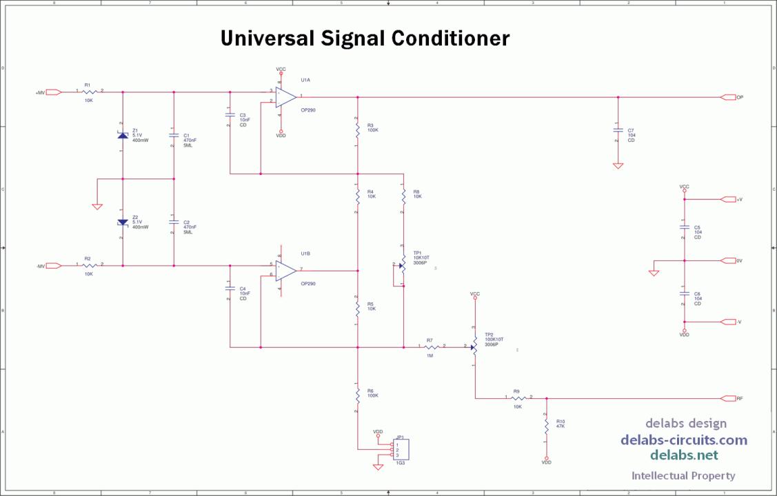 Universal Signal Conditioning Circuit