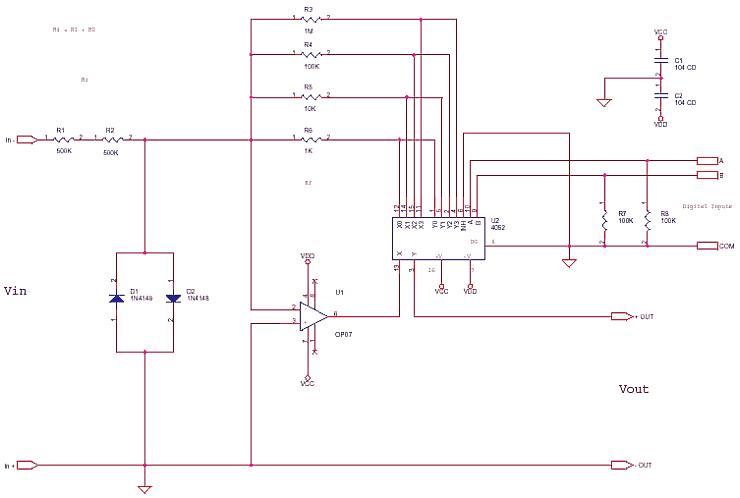Precision Attenuator for Digital uC Control