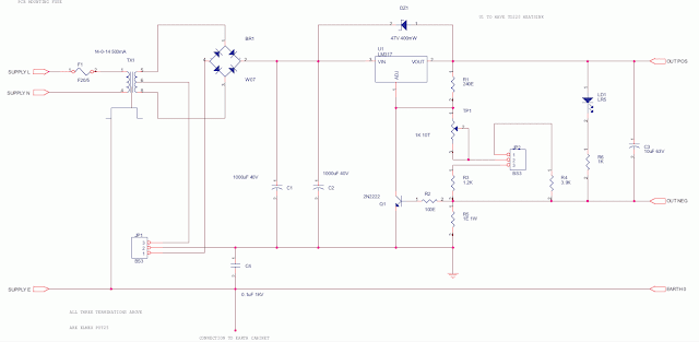LM317 based Regulated Power Supply