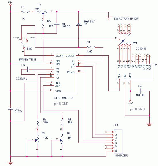 PLL using 4046 - Phase Locked loop