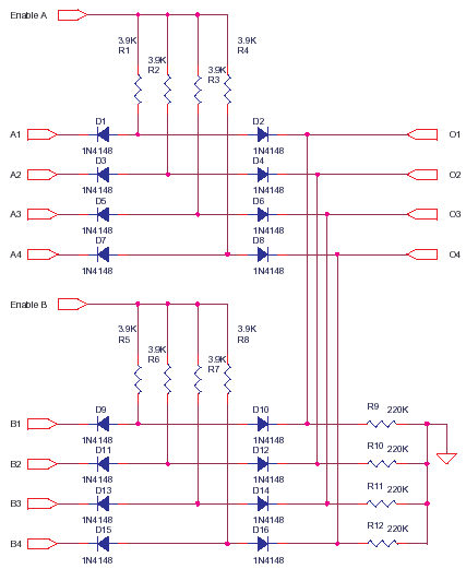 Simple High speed data switch