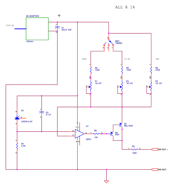 Millivolt Milliamp Source - Field Calibration Current Loop