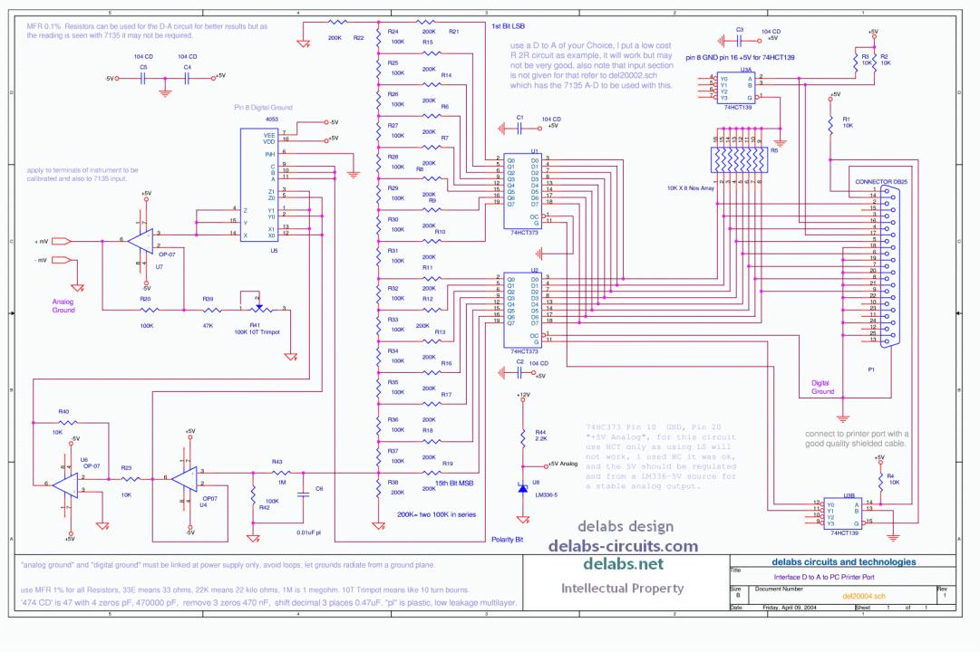 Milli Volt Source for Printer Port