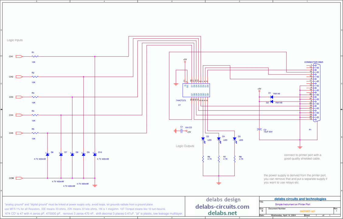 Simple Printer Port Interface