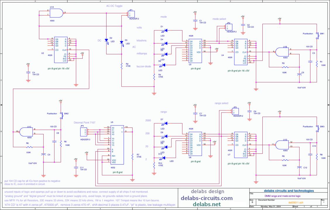 DMM range and AC-DC mode Logic