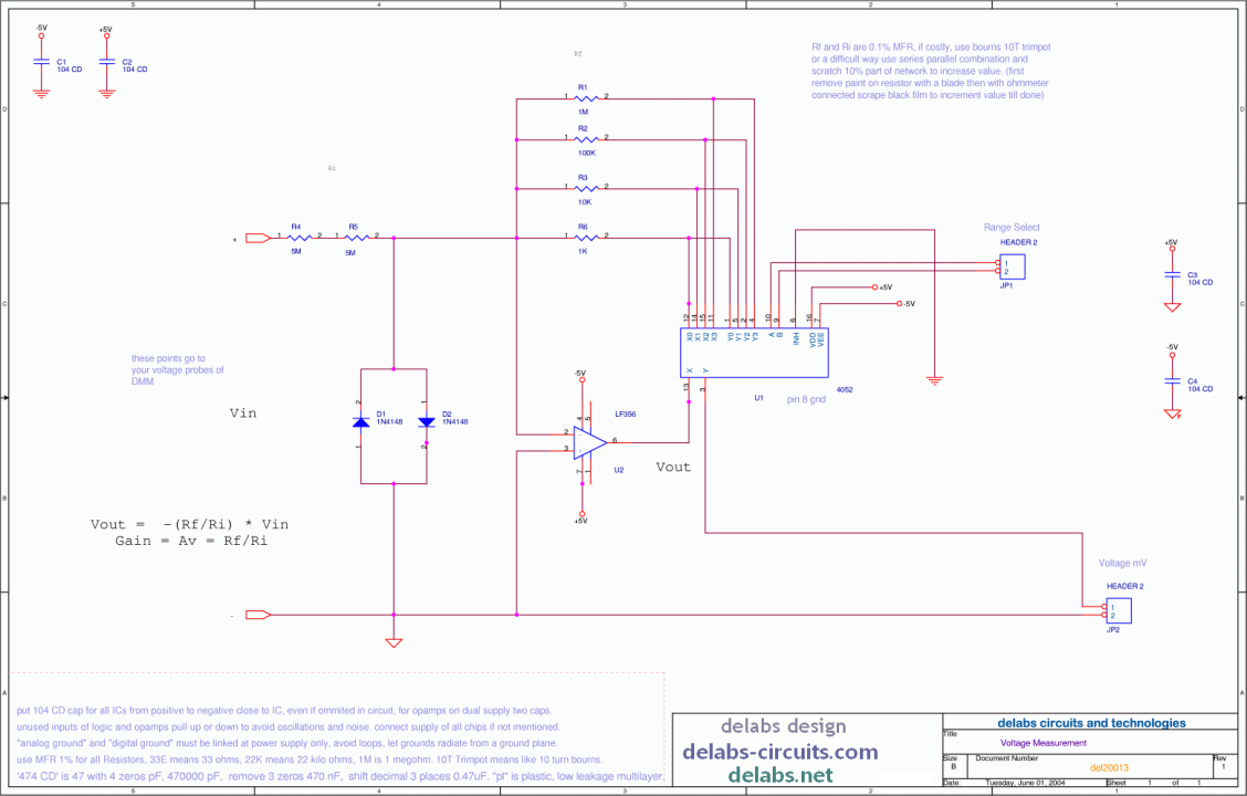 Voltage Attenuator Amp - DMM Project