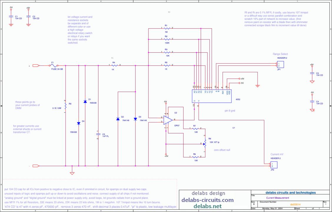 Current Amp digital control - DMM Project