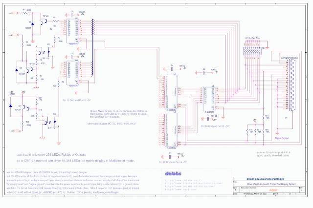 Printer Port 256 Relays 16K Dot Matrix