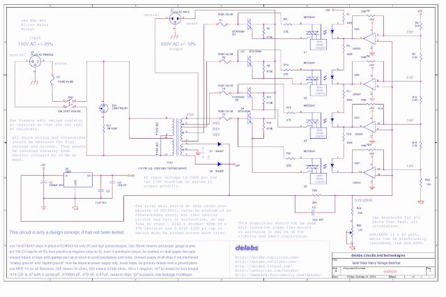 Solid-State Stabilizer Step up 110V AC
