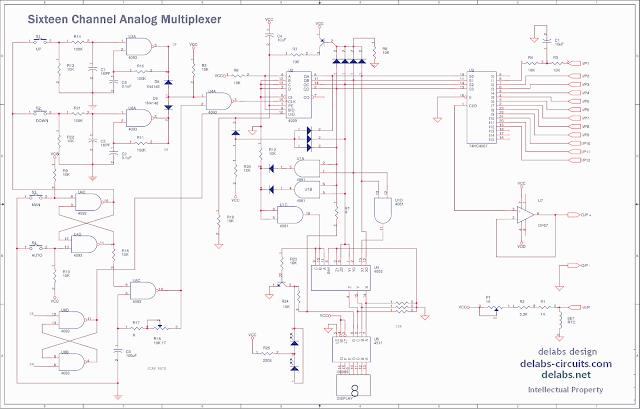 16 Channel Analog Multiplexer