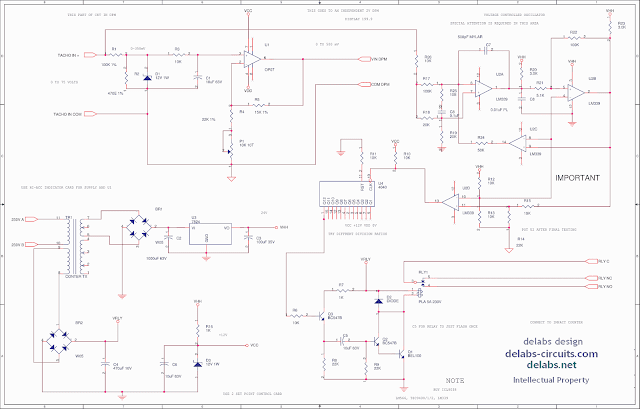 Tacho Generator - VCO using Opamps