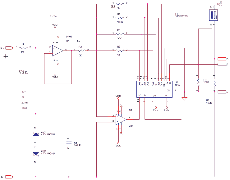 Precision Amplifier with Digital uC Control