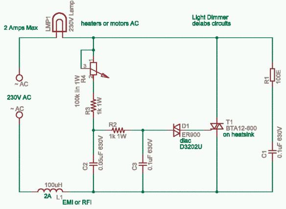 Triac based Lamp Dimmer power control