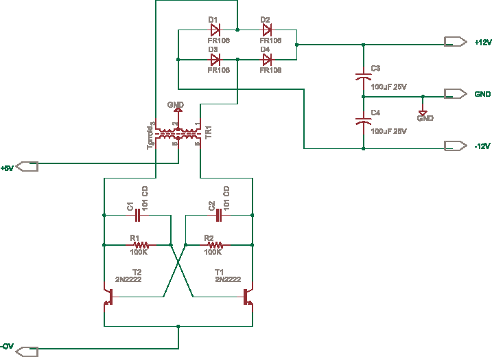 Isolated dual power supply from 5V