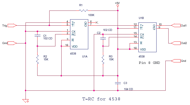 Monostable Multivibrator CD4538