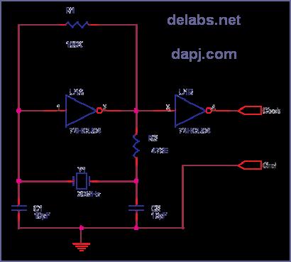 Crystal Oscillator - Parallel Resonant