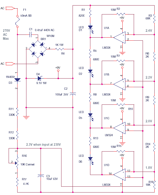 Simple Mains Voltage monitor