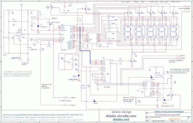 Auto ranging 4-1/2 Digit Digital Voltmeter