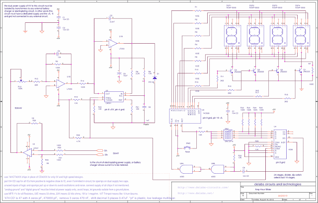 Amp Hour Meter using LM331 and 74C926