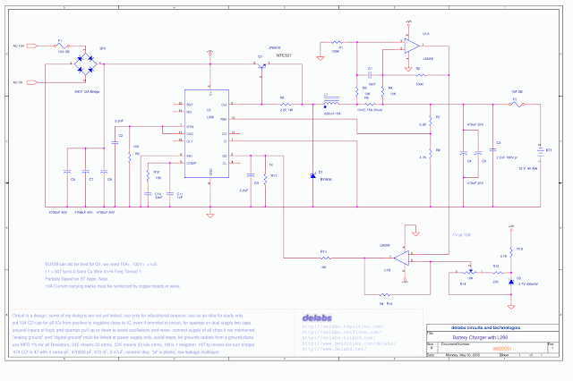 Switching Battery Charger with L296