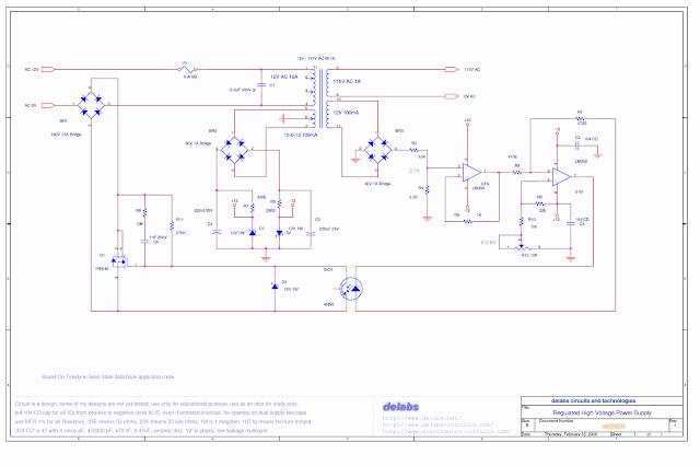 Regulated High Voltage Power Supply