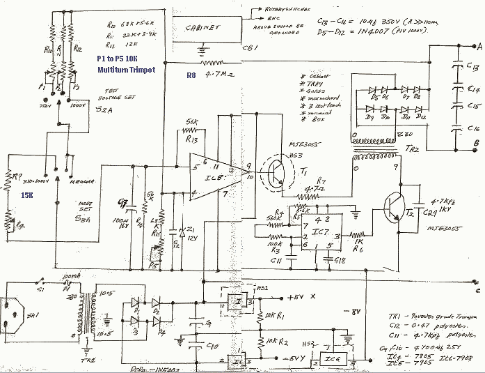 Insulation Tester power supply