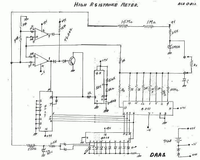 High Resistance LED Meter
