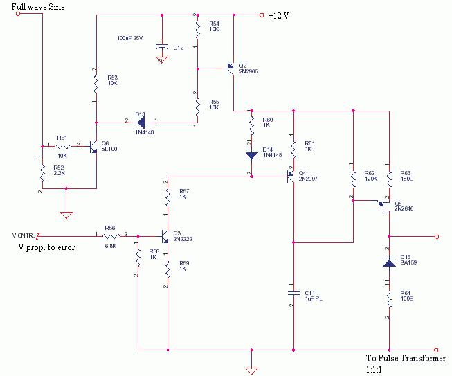 2N2646 based Voltage controlled SCR Pulser