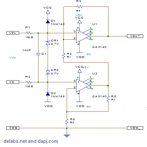 Two Op-Amp Differential Amplifier