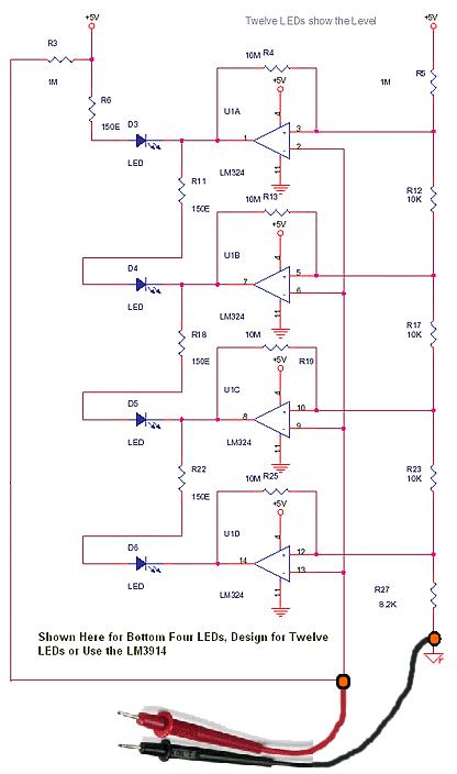 Resistance Measurement Analog LED Meter