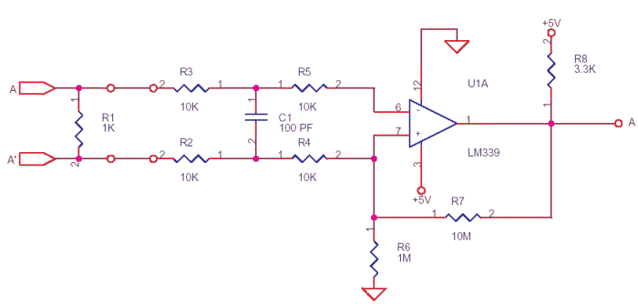 Differential to TTL convertor using LM339