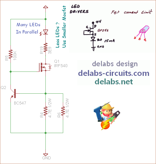 FET Current Source and MOSFET