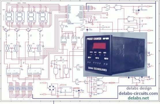 Multiplexed Presettable Timer with ICM7217
