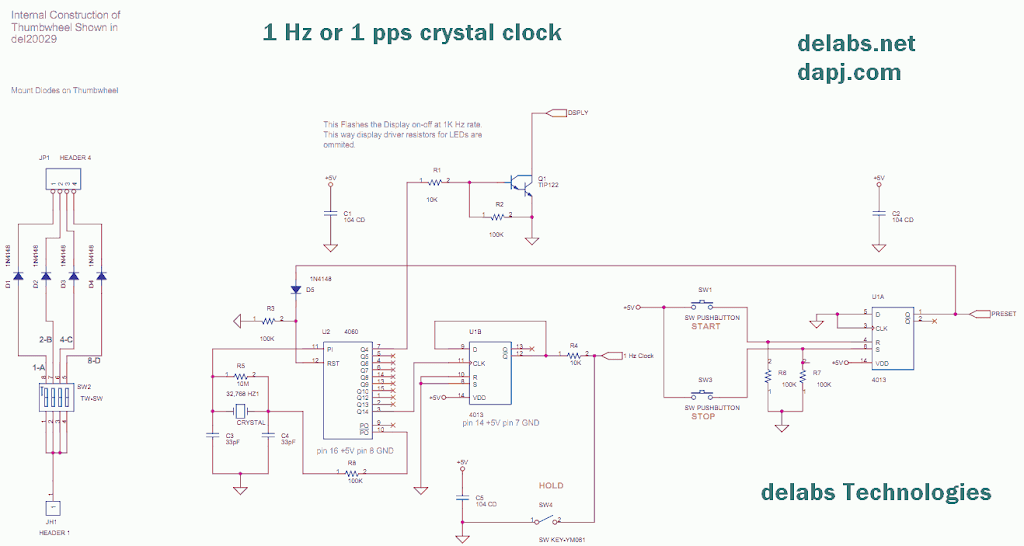 Presettable Up-Down Counter Timer