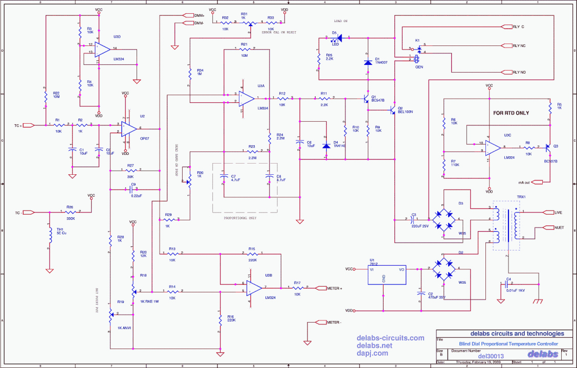 Proportional Analog Dial Temperature Controller